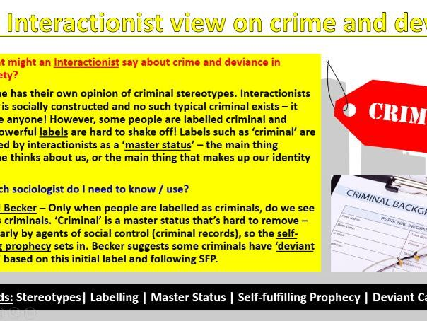 GCSE Sociology (Eduqas) - Crime and Deviance - Theoretical Views [Powerpoint Presentation]