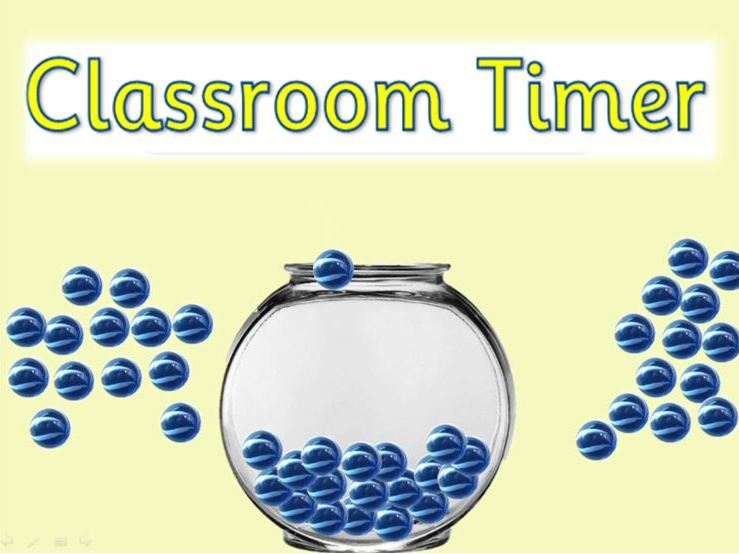 Classroom timer - fill up the marble jar! (5 minutes)