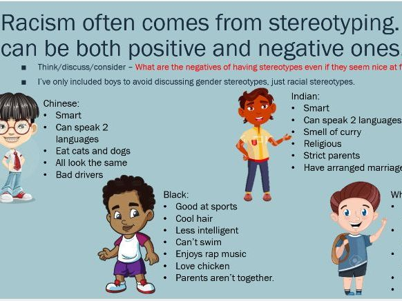 Racial stereotypes - racism information for children