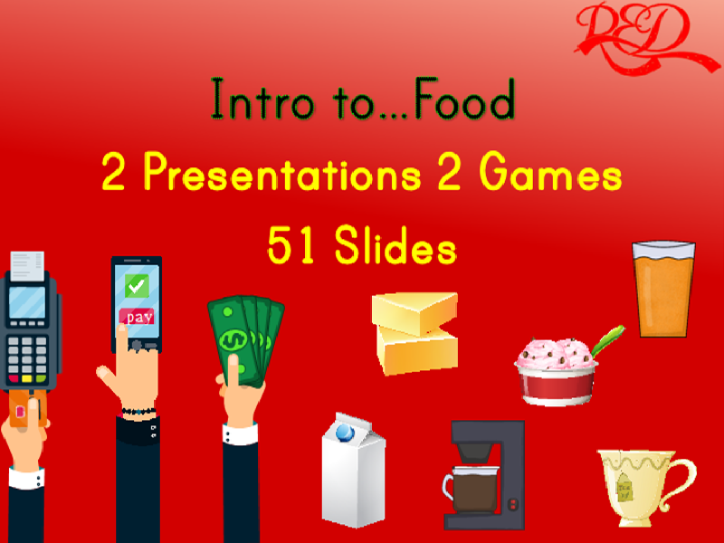 Food Interactive Whiteboard Presentation