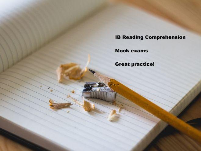 IB Spanish B Standard Level (SL) - Mock Exam - Reading comprehension (new)
