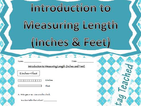 Introduction to Measuring Length (Inches/Feet) Interactive Guided Notes/Worksheet