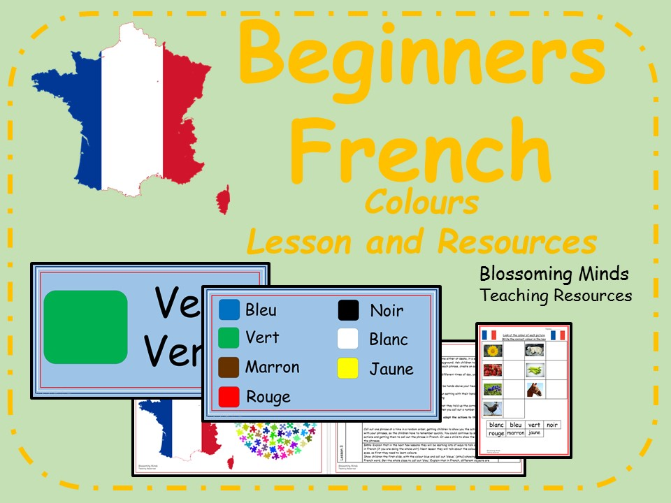 French lesson and resources - Colours - KS2
