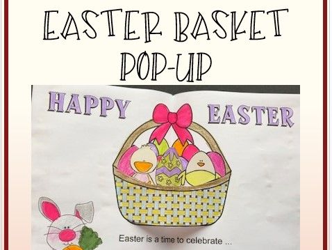 Easter Crafts - Easter Basket POP-UP