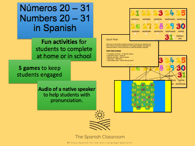 Números 20-31 Numbers in Spanish 20-31