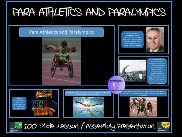 Para Athletics and Paralympics - 100 Slide PowerPoint -Get 20% off - use code GREAT-YEAR at checkout