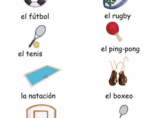 Spanish Vocabulary Sheet: Los deportes