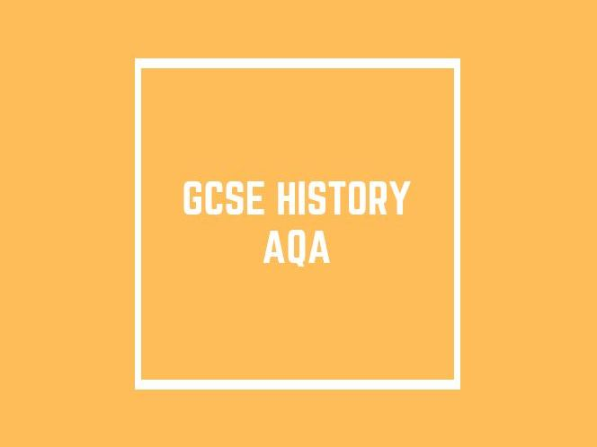 GCSE History AQA: Papers 1 and 2