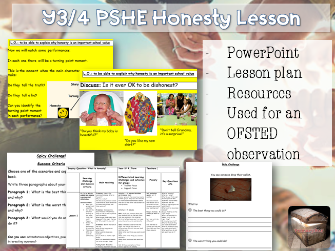 Outstanding Y3/4 PSHE Honesty Lesson - OFSTED observation interview lesson British Values
