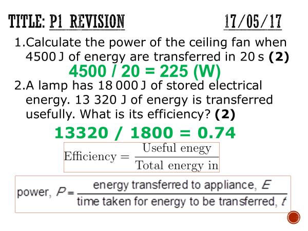 AQA GCSE physics P1 checkpoint revision - Complete lesson (KS4)