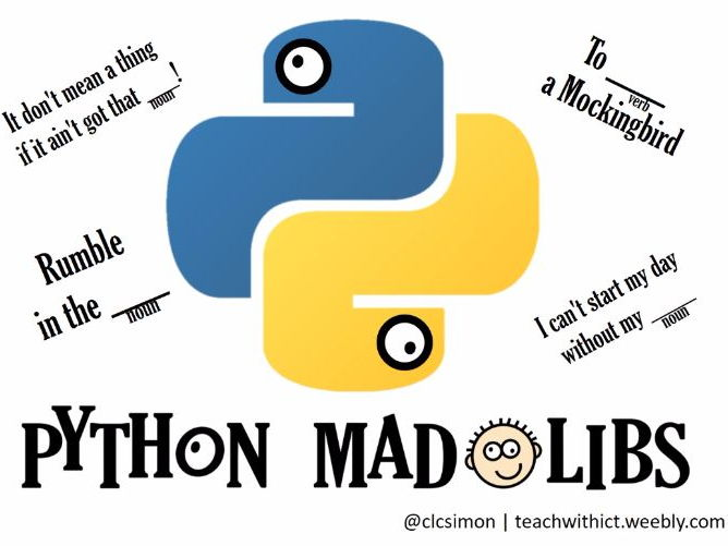 How to make a Mad Libs game in Python