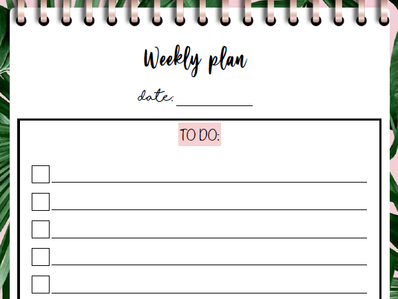 Weekly To-Do List