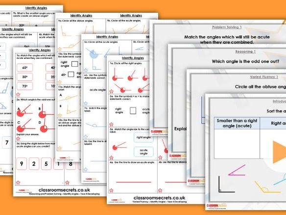 FREE Year 4 Identify Angles Summer Block 5 Step 1 Maths Lesson Pack