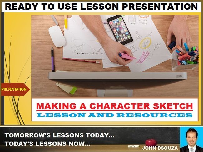 CHARACTER DESCRIPTION: READY TO USE LESSON PRESENTATION