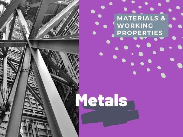 Metals - PPT GCSE DT