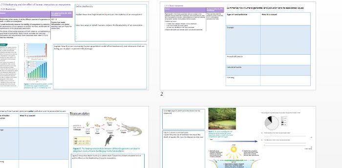Biodiveristy AQA 9-1 revision booklet