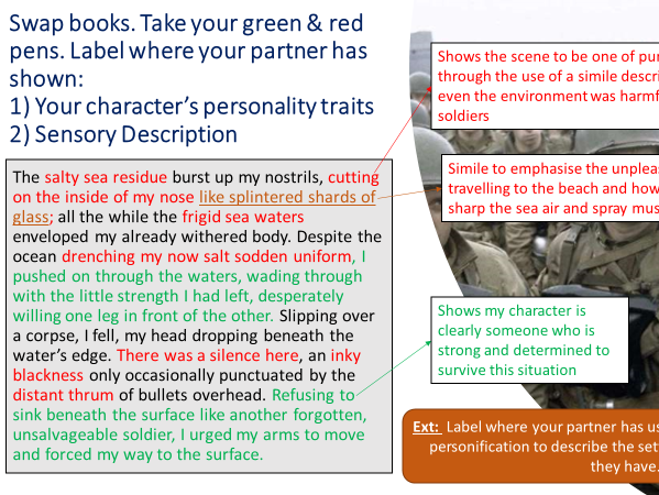 AQA English Language Paper 1 Narrative Writing: Building Character and Setting