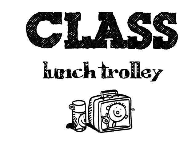 A4 Black & White Lunch Trolley/Box Sign
