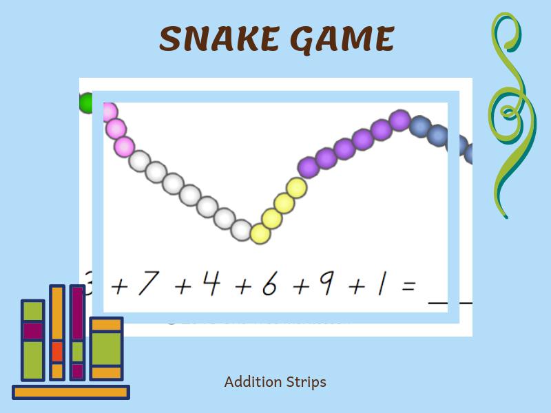 Montessori Snake Game Strips