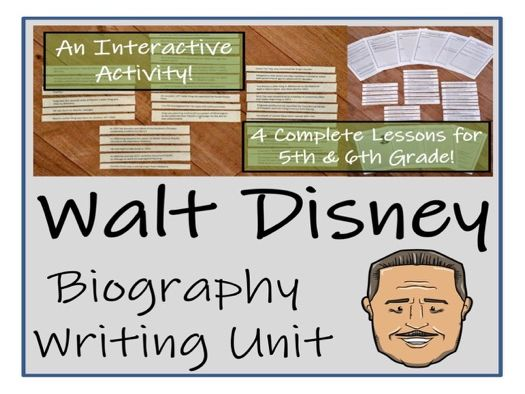 UKS2 Literacy - Walt Disney Biography Writing Unit