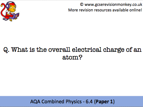Revision Cards - AQA Combined Physics 6.4