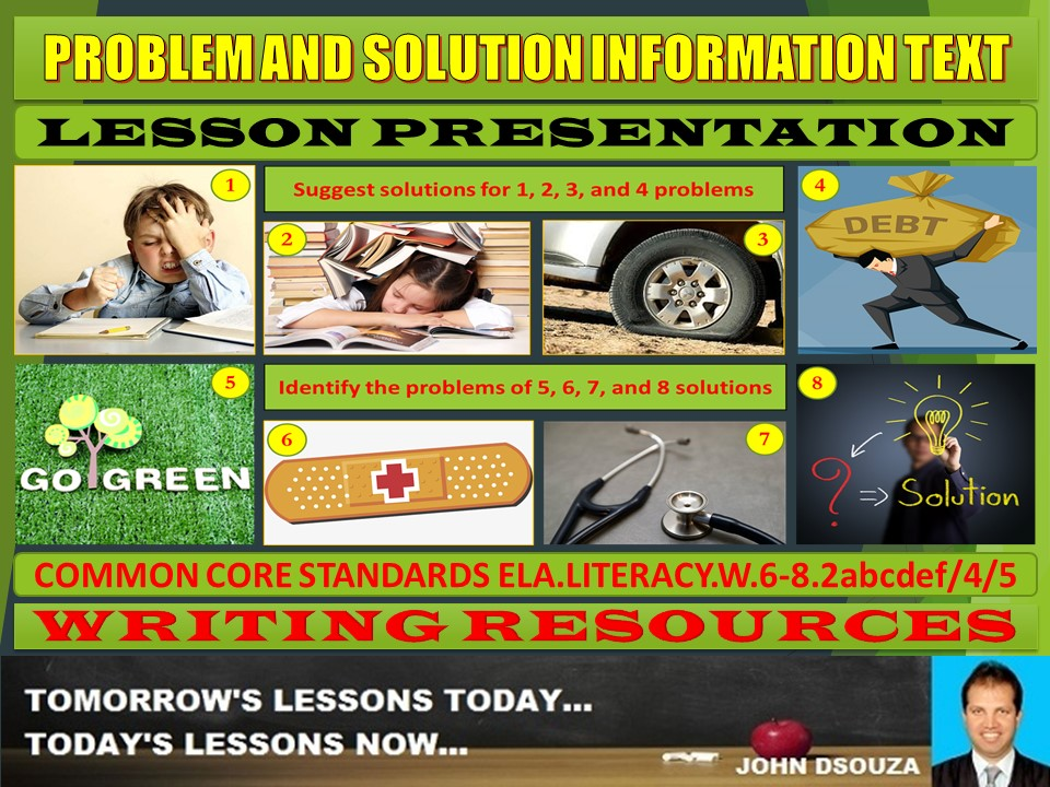 PROBLEM AND SOLUTION INFORMATION TEXT LESSON PRESENTATION