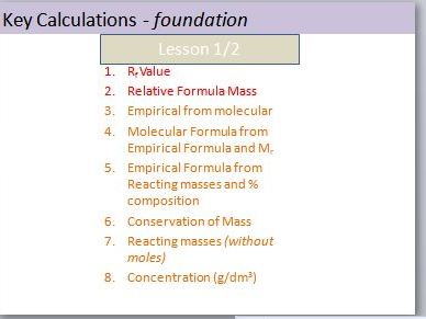 Edexcel 9-1 Combined FOUNDATION Chemistry Calculations Revision LESSONS (TOPIC 1 KEY CONCEPTS)