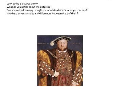 Monarchs Worksheets (History)