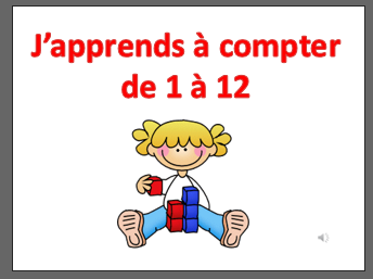 French numbers 1-12