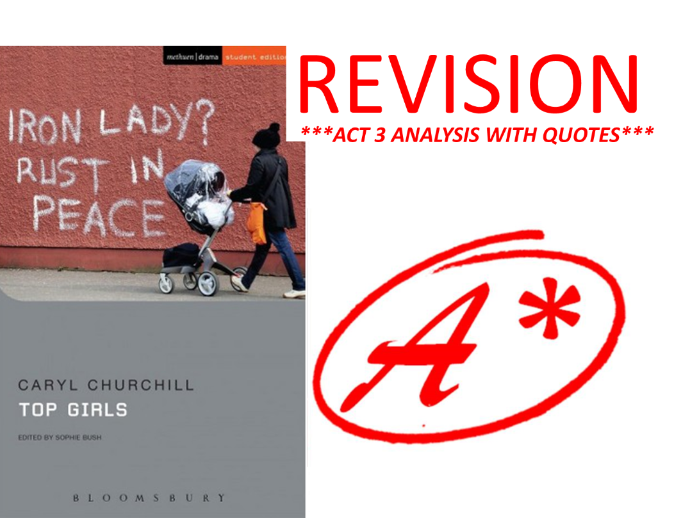 TOP GIRLS BY CARYL CHURCHILL ACT 3 REVISION
