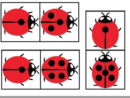 LADYBIRD DOMINOES (0-0 to 10-10) Main use for NUMBER BONDS to 10 (other ideas in PDF)