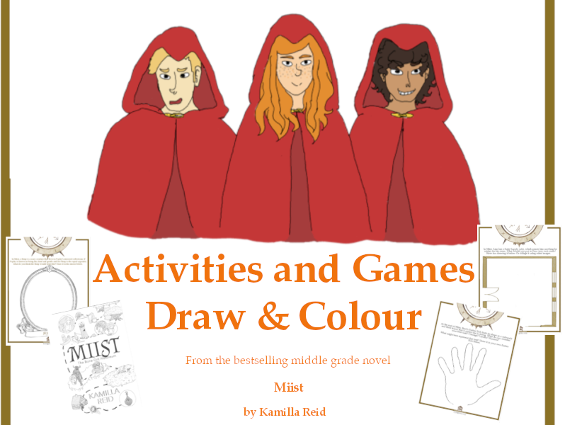 Draw & Colour activities to accompany the middle grade fantasy novel, Miist