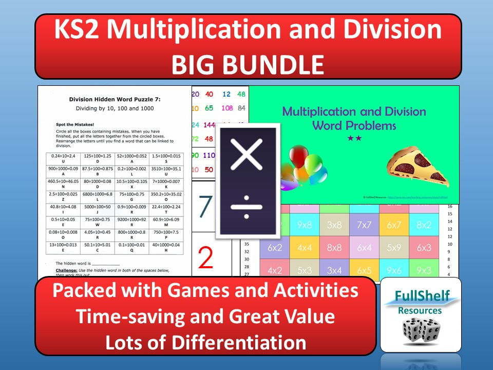 Multiplication / Division Activities