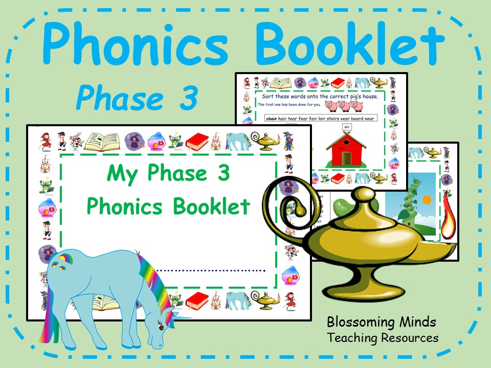Phonics phase 3 revision booklet - fairy tale theme
