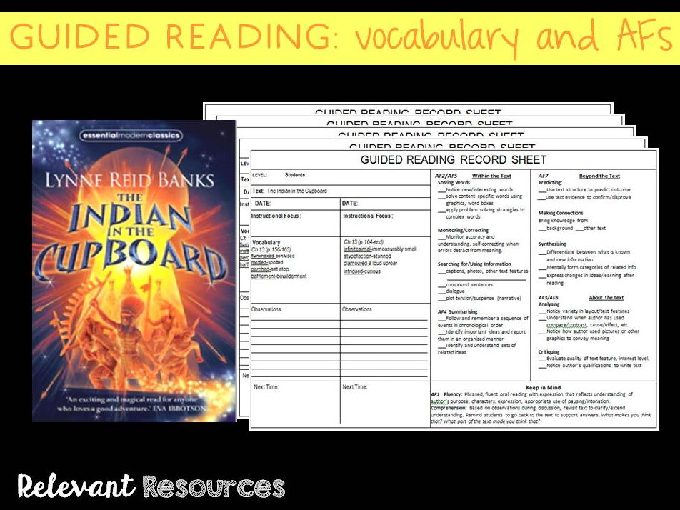 Guided Reading: The Indian in the Cupboard