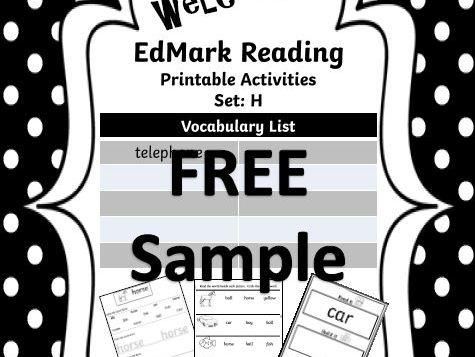 EdMark Reading Support Activities - SAMPLE