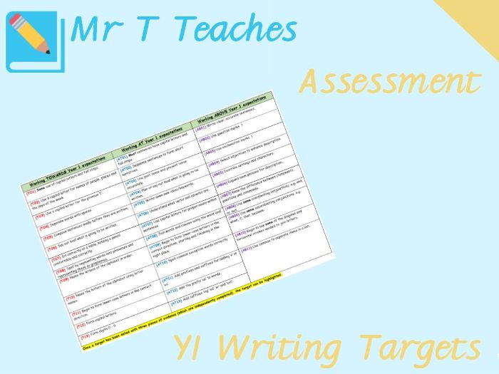 Year 1 Writing Targets Assessment