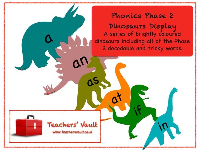 Phonics Phase 2 Dinosaurs Display
