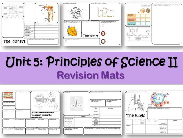 BTEC Applied Science Unit 5 Revision Mats