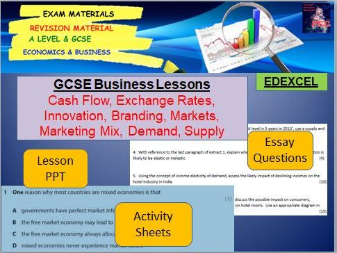 GCSE Business Bundle: Lesson PPT, Activities, Worksheets, Homeworks, Starters