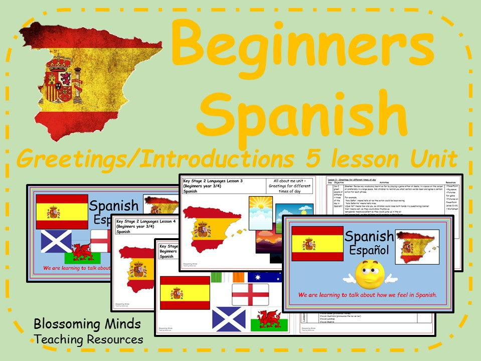 Beginner Spanish - Greetings and Introductions - 5 lesson bundle