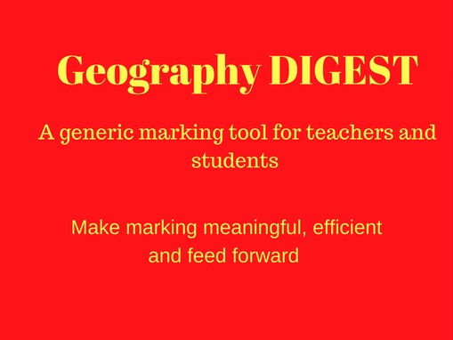 Geography Marking Tool - Make Marking meaningful and QUICK!