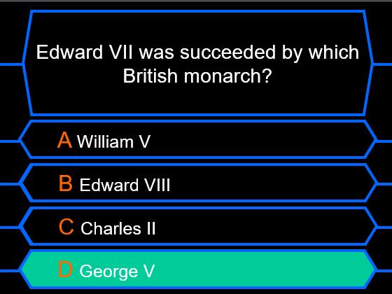 Millionaire Quiz! (Edwardian Edition)