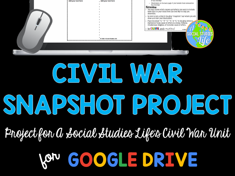 Civil War Snapshot Foldable Project