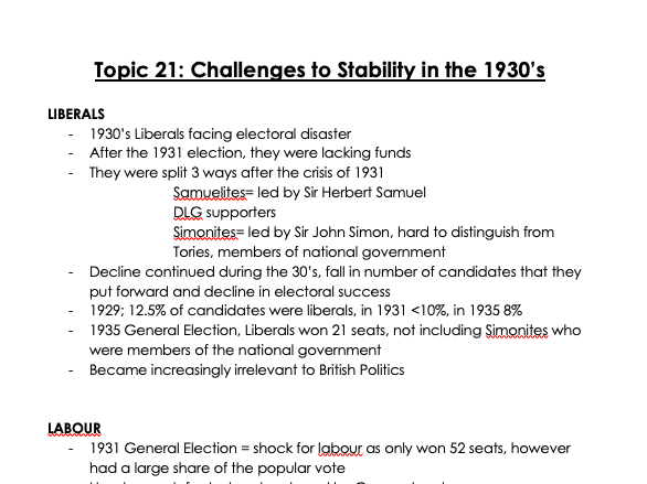 A-Level AQA History Making of Modern Britain: part 5