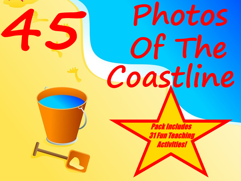 45 high quality pictures of the coast and beach + 31 Fun Teaching Activities For These Cards