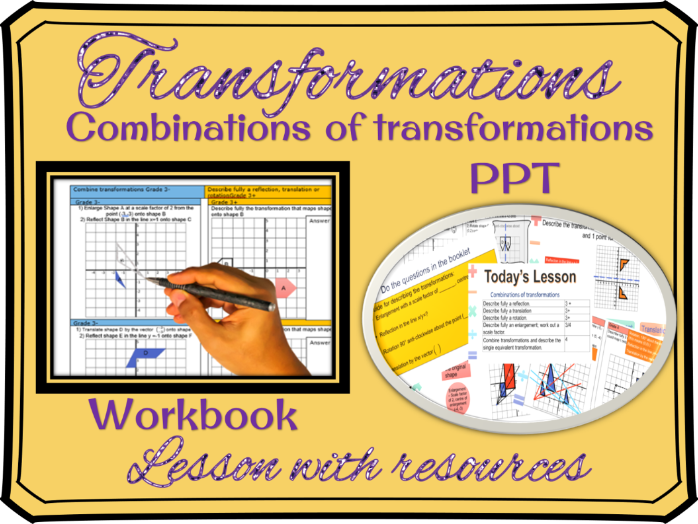 Combinations of transformations lesson (download, print and teach)