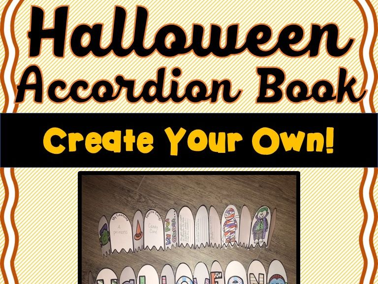 Halloween Accordion Book - Create your own! Choose from 26 Halloween templates!