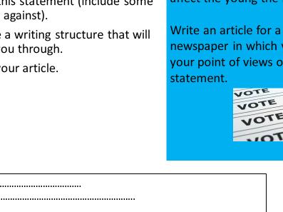 AQA English Lang Paper 2 Writing Task