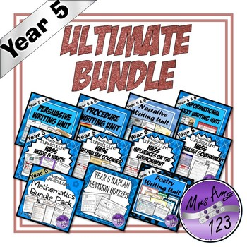 Year 5 Ultimate Bundle- Australian Curriculum Units, Tests and NAPLAN Revision